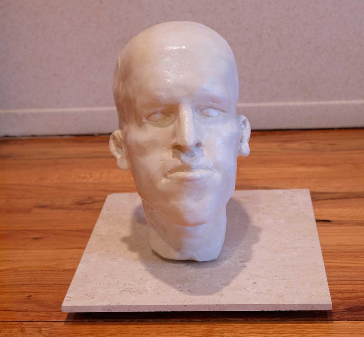 Dr. Gary Linkov sculpture. Face bust.