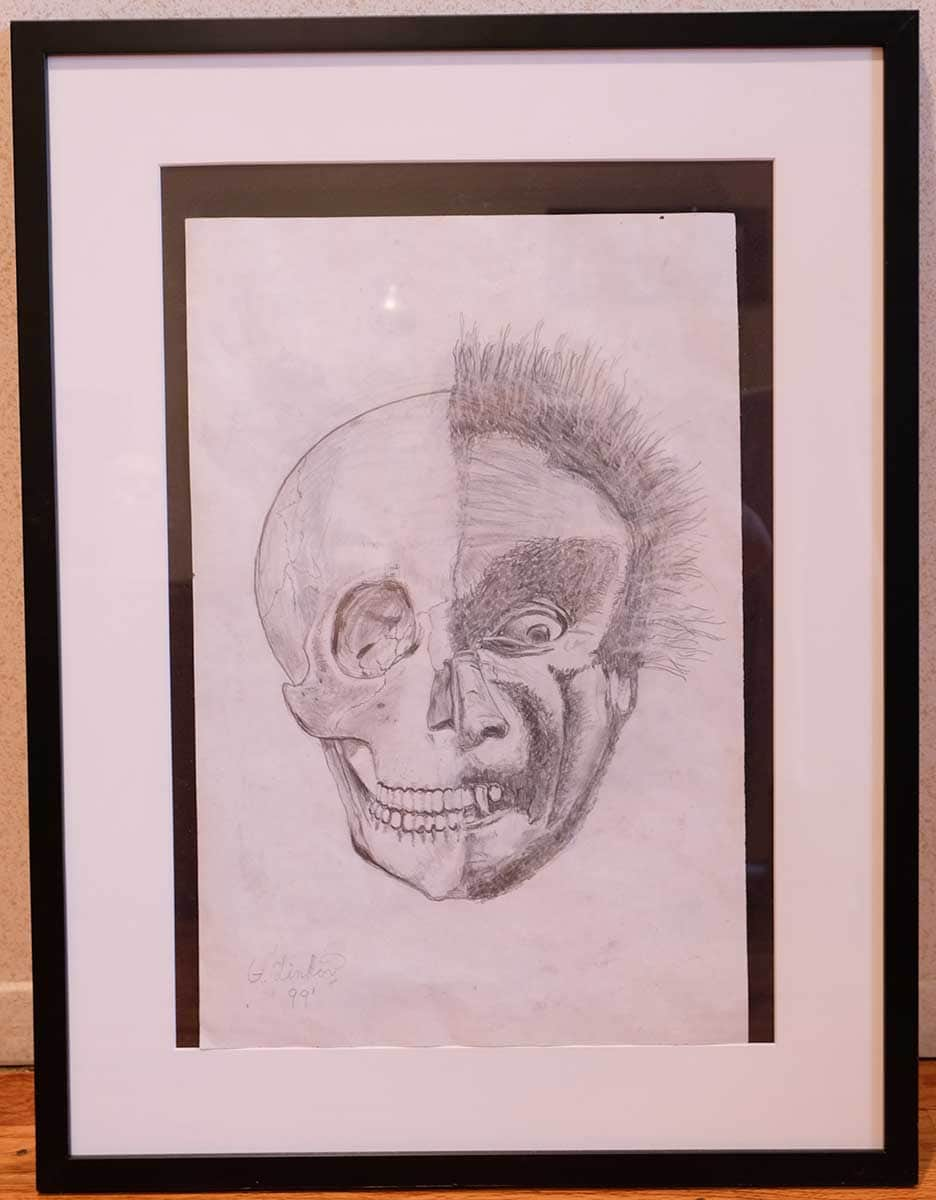 Dr. Gary Linkov drawing. Skeleton face.
