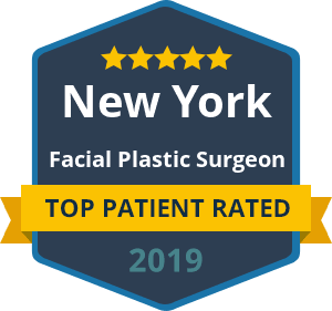 Top Patient New York Facial Plastic Surgeon 2019 - badge
