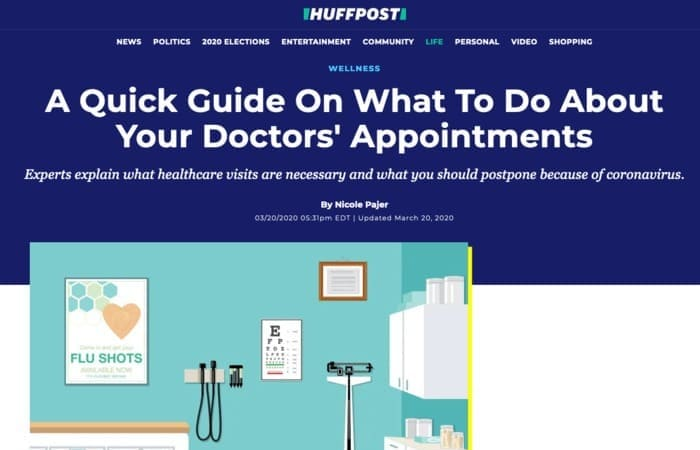 Screenshot of article: A Quick Guide On What To Do About Your Doctors' Appointments