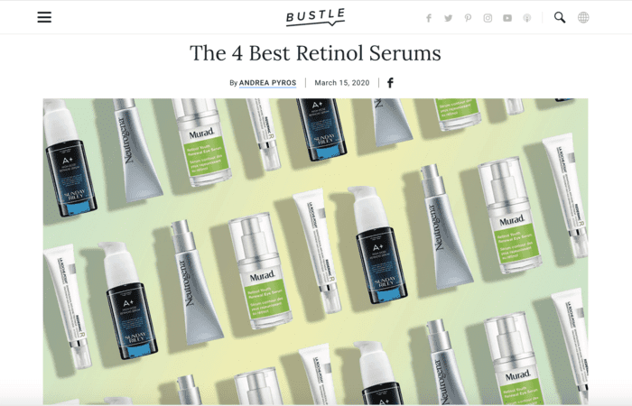 Screenshot of: The 4 Best Retinol Serums