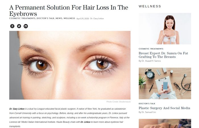 A Permanent Solution For Hair Loss In The Eyebrows