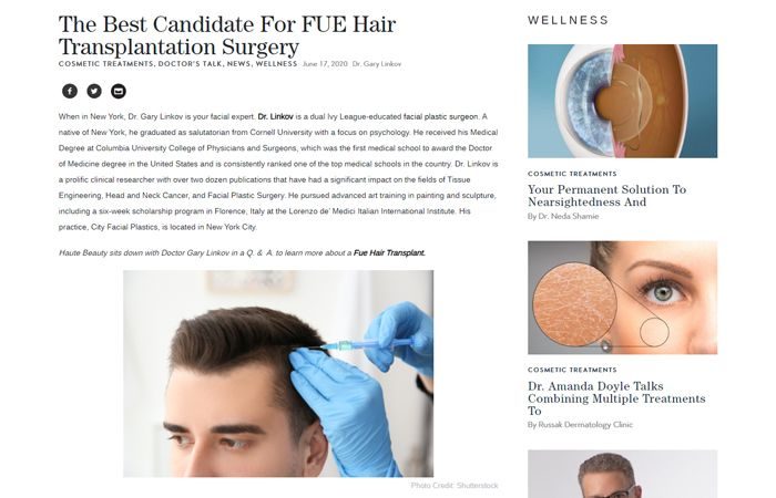 The Best Candidate For FUE Hair Transplantation Surgery