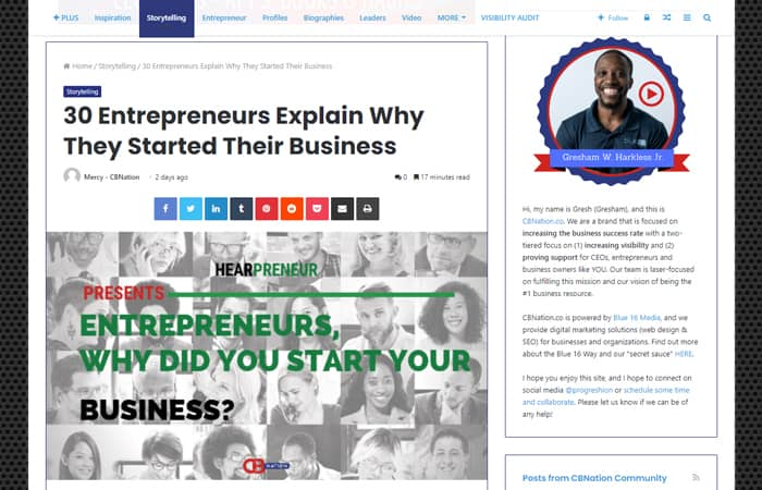30 Entrepreneurs Explain Why They Started Their Business