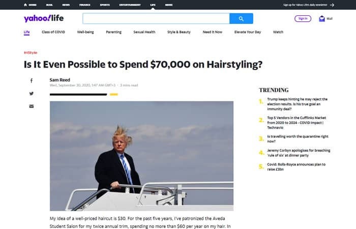 Is It Even Possible to Spend $70,000 on Hairstyling? - Yahoo Life